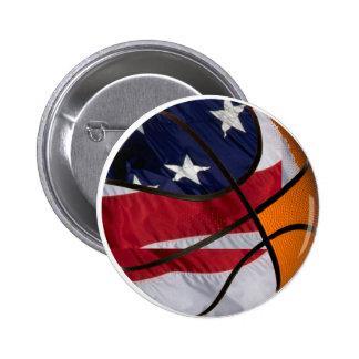 USA Basket Ball Button