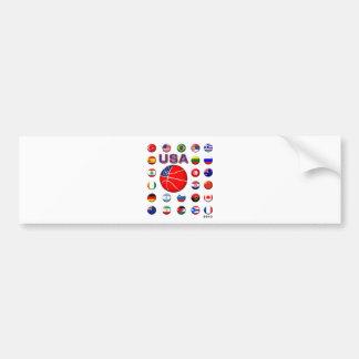 USA Basketball 2010 Bumper Sticker