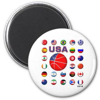 USA Basketball 2010 Magnet
