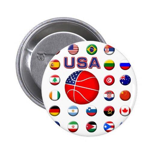 USA Basketball 2010 Pinback Buttons