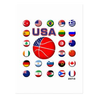 USA Basketball 2010 Postcard