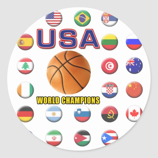 USA Basketball Champions 2010 Classic Round Sticker