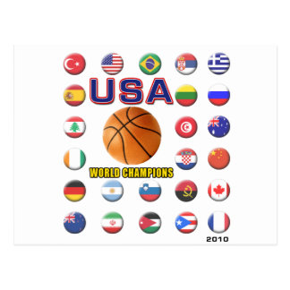 USA Basketball Champions 2010 Postcard