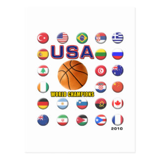 USA Basketball Champions 2010 Postcard