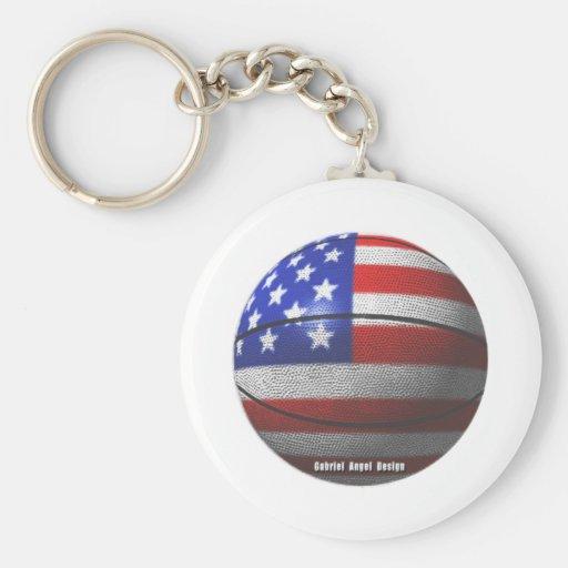 USA Basketball Key Chain
