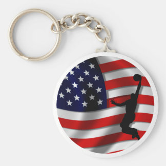 usa basketball keychain