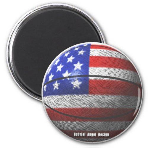 USA Basketball Magnet