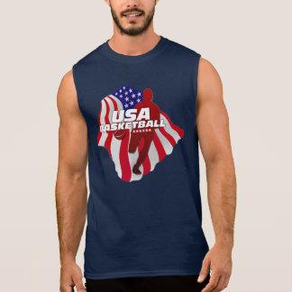 USA Basketball Player American Flag Shirt