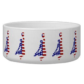 USA Basketball Player Dog Food Bowls
