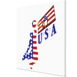 USA Basketball Stretched Canvas Prints