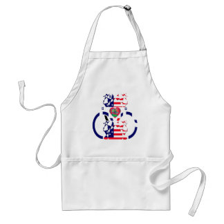 USA Beautiful Amazing Text Lovely Heart colors Art Adult Apron