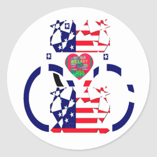 USA Beautiful Amazing Text Lovely Heart colors Art Classic Round Sticker