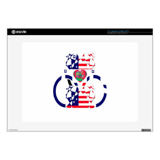 USA Beautiful Amazing Text Lovely Heart colors Art Decals For Laptops