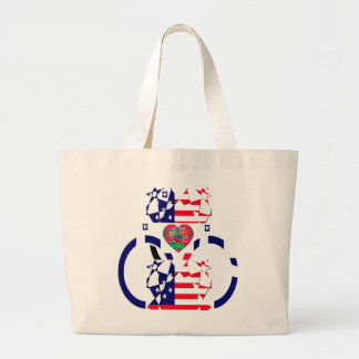 USA Beautiful Amazing Text Lovely Heart colors Art Large Tote Bag
