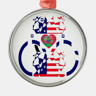 USA Beautiful Amazing Text Lovely Heart colors Art Metal Ornament
