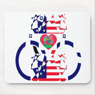 USA Beautiful Amazing Text Lovely Heart colors Art Mouse Pad