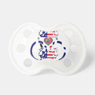 USA Beautiful Amazing Text Lovely Heart colors Art Pacifier