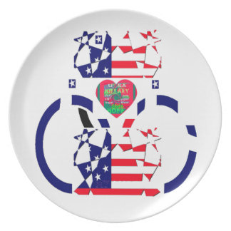 USA Beautiful Amazing Text Lovely Heart colors Art Plate
