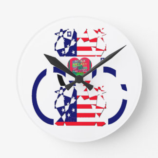 USA Beautiful Amazing Text Lovely Heart colors Art Round Clock