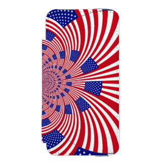 USA Beautiful Pretty Uniquely Exceptional iPhone SE/5/5s Wallet Case