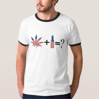 USA Beer and Weed Party T-Shirt