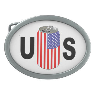 USA Beer Oval Belt Buckle