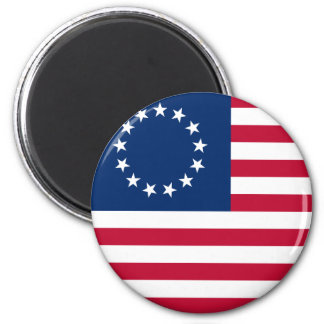 usa betsy flag 2 inch round magnet