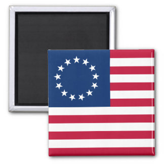 usa betsy flag 2 inch square magnet