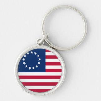 usa betsy flag keychain