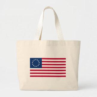 usa betsy flag large tote bag