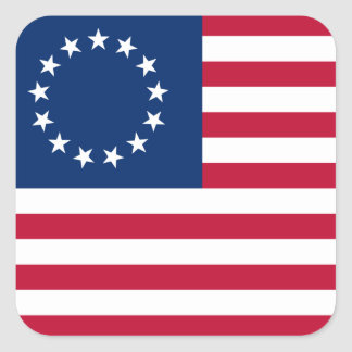 usa betsy flag square sticker