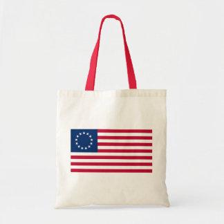 usa betsy flag tote bag