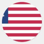 USA Betsy Ross Flag Round Sticker