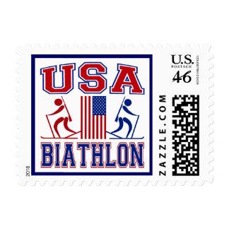 USA Biathlon Stamp