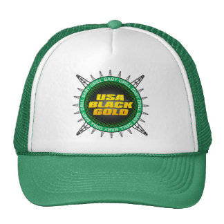 USA Black Gold Trucker Hat