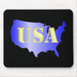 USA blau+Gold Mauspads