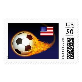 USA Blazing Football Postage