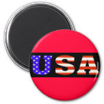 USA Blk 11x3 2 Inch Round Magnet