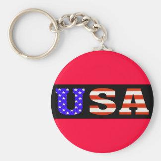 USA Blk 11x3 Keychain