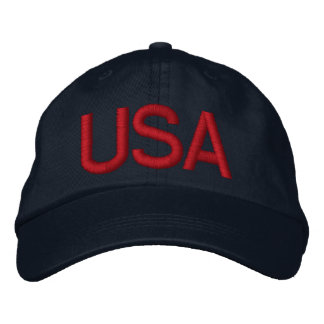 USA Blue Embroidered Hat - Customized