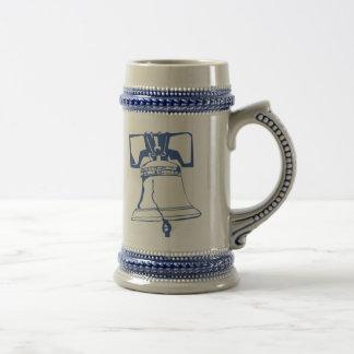 USA-Blue Liberty Bell Coffee Mugs