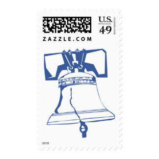 USA-Blue Liberty Bell Postage Stamp
