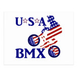 USA BMX - American Cyclist Postcard