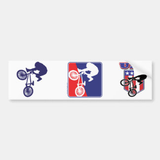 USA BMX Biker Bumper Sticker