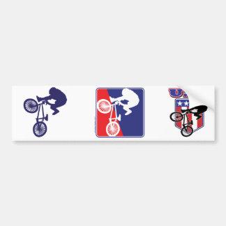 USA BMX Biker Car Bumper Sticker