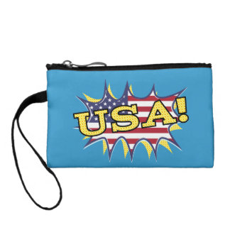 USA Boom Pop Pow flag star burst Coin Purse