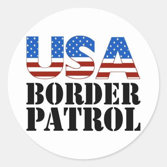 USA Border Patrol Classic Round Sticker