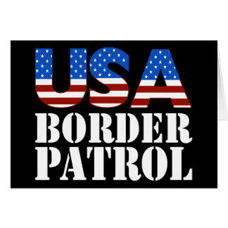 USA Border Patrol Greeting Card
