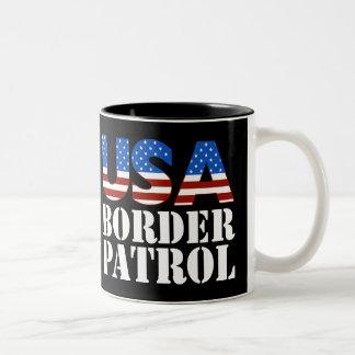 USA Border Patrol Two-Tone Coffee Mug