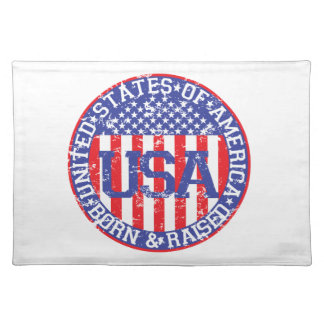 USA Born and Raised Place Mats